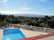private villa walking distance to mijas with sea views and swimming pool
